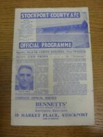 09/03/1946 Stockport County v Crewe Alexandra [Division 3 North West Cup] . Any