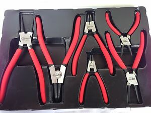 6 PC Circlip plier Set. Good Quality Set.
