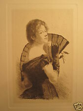 "ANTIQUE 1887 NEW YORK ETCHING CLUB FREDERICK FREER "" THE TOKEN "" CHICAGO IL RARE"