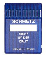 10 SCHMETZ  135X17 SIZE#25//200 INDUSTRIAL SEWING MACHINE NEEDLES DPX17 SIZE #25