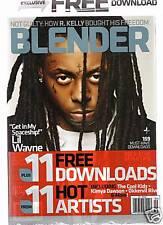 BLENDER SEPT 2008 LIL WAYNE W/11 FREE DOWNLOADS MINT