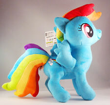 "RAINBOW DASH PELUCHE DOLL 12 "" / 30 cm My Little Pony Peluche 12"" UK STOCK alta qualità"