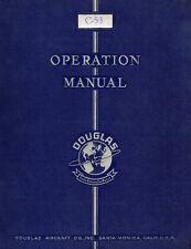 DOUGLAS C-53 SKYTROOPER - OPERATING INSTRUCTIONS - 1942