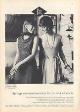 1965 Peck & Peck PRINT AD Fashion Haberdasher Dress