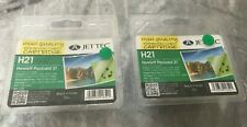 HP 21 Black  Ink Cartridge  x 2 For HP Deskjet F2180 F2280 F380 340 D1460