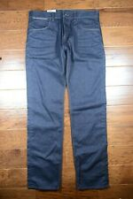 Hugo Boss $235 Men's Maine Regular Fit 100% Cotton Navy Blue Denim Jeans W34 L34