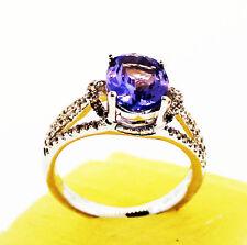 Item #555  Tanzanite (2.02 Ctw) 14K White Gold Ring, Size 5