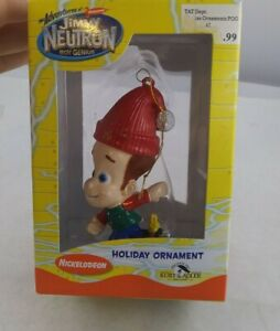 NEW 2003 JIMMY NEUTRON Holiday Christmas Ornament Ice Skating Jimmy *B