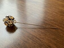 Vintage Antique Rhinestone Hat Pin Stick Pin