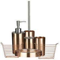 Shine Rose Gold AS Plastic Tidy Bathroom Accessories Set