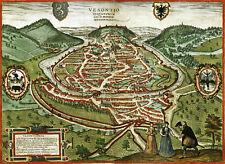 Reproduction plan ancien - Besançon vers 1575