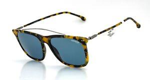Carrera 150/S 3MAKU Havana Ruthenium with Blue Lens Sunglasses, New