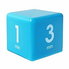The Miracle Cube Timer 1 3 5 7 Minutes Time Management Kitchen Kids Workout Blue