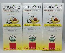 Radius Organic Toothpaste Coconut Banana 1.7 oz (3-Pack) Exp Date 8/20