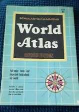 Scholastic Hammond World Atlas Vintage 1969 Color Illustrations