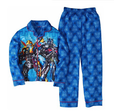 Transformers Boys 2 Piece Microfleece Blue Pajama Set Size 8