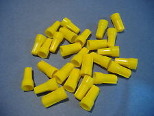 25 YELLOW UNI-LOK WIRE CONNECTORS MADE IN USA TWIST CONICAL NUT NUTS GAR BENDER
