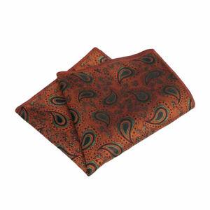 Men's Classic Paisley Flower Handkerchief Wedding Party Pocket Square Hanky