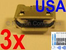 "3X Micro USB Charging Sync Port for Epik HighQ ELT0801 8.0"" Kids Learning Tablet"