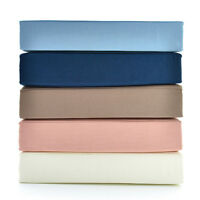 310TC Thread Count 100% Cotton Percale Sheet Set SUPER KING New by ALLURE LIVING