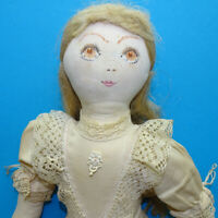 Vintage Benedicte Reveilhac French Handmade Original Cloth Doll 20 Inch HTF