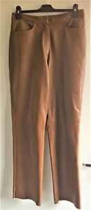 Gerry Weber Real Genuine Tan Leather Trousers size UK 14