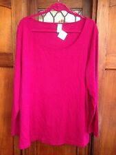 🍭 NEW WITH TAG. dark pink long sleeve t-shirt top with scoop neck. size 26.