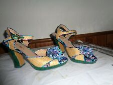 Poetic License Womens Pumps Floral Peep Toe Slingback Heels Sz 6 1/2M