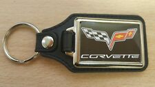 Corvette Rectangle Medallion Keyring, Brand New