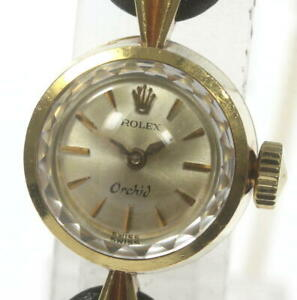 ROLEX Orchid 18K Yellow Gold Cal.1400 Hand Winding Ladies Watch_605233