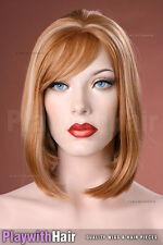 Classic Elegant Bob Wig Rich Golden Blondes