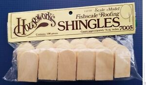 Housework's Dollhouse Fishscale Roofing Shingles (100 Pieces) Model # 7005 New