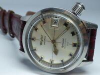 Vintage Wyler Incaflex Heavy Duty 660Ft Stainless Steel 35mm Men's Diver Watch