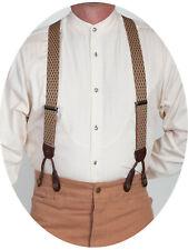 Scully Rangewear Elastic Steel Diamond Suspenders RW243S
