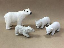 Euc Polar Bear Family Toy Figures Mixed Lot Schleich
