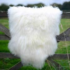 Amazing extra large genuine - soft thick wool sheepskin rug - off white