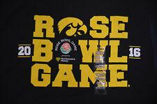 New Iowa Hawkeye 2016 Rose Bowl T-shirt Adult XL NCAA Black Football