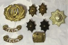 Job Lot Of Approx 9 Military Cap / Shoulder Badges Etc - (Lot 9)