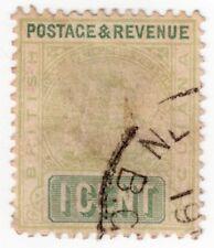 British Guiana  130 1¢ Green Postage Revenue  LH Lite Cancel 1889-1903