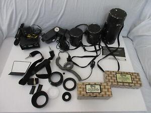 Lot of Nikon Camera Accessories, Lens Cases, SC-19, SC-14, SB-16, Quantam Batter