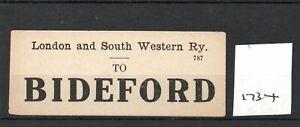London & South Western Railway LSWR - Luggage Label (1734) Bideford