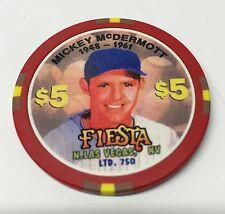 Fiesta $5 Casino Chip North Las Vegas Mickey McDermott sports edition Baseball