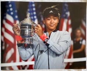 Naomi Osaka signed 11x14 tennis photo Japan *PROOF*