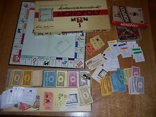 2 VINTAGE MONOPOLY GAMES MONEY HOTELS HOUSES DICE CARDS ORIGINAL BOXES