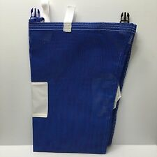 Blue Commercial laundry bags, Pvc mesh laundry bags