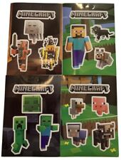 34-Stickers Minecraft Sticker Party Pack Steve Pets Baby Animals Mob Nether Jinx