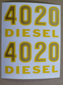 1/2 Scale 4020 Diesel Model Number DECAL for custom John Deere Tractor JP602
