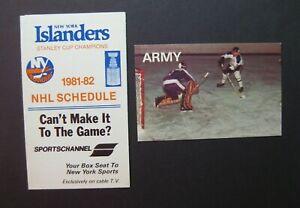 1981-82 New York Islanders & Army hockey schedule lot (2) NHL college sked
