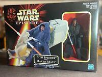 Hasbro Star Wars E1 Red Sith Speeder and Darth Maul New 1998