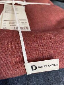 Muji Cotton Flannel Duvet Cover Burgundy